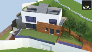 Vivienda Passivhaus en desnivel